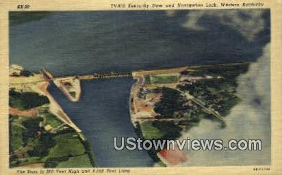 Kentucky Dam - Western Kentucky Postcards Postcard
