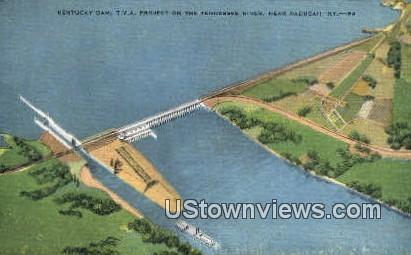 Dam - Paducah, Kentucky KY Postcard