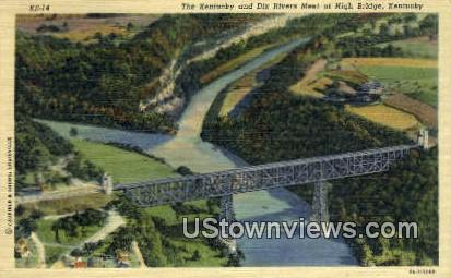 Kentucky And Dix Rivers Meting Point - High Bridge Postcard