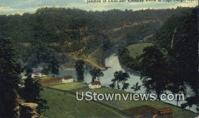 Junction Of Dicks And Kentucky River - High Bridge Postcard