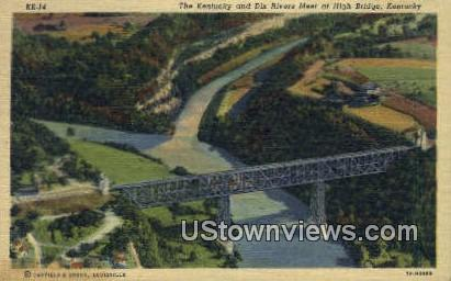 Kentucky And Dix River Meeting Point - High Bridge Postcard