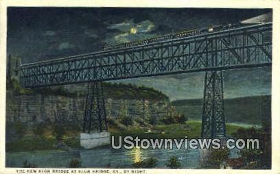 Moonlight Scene  - High Bridge, Kentucky KY Postcard