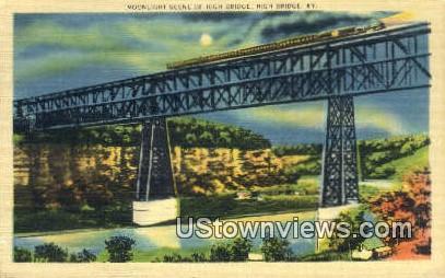 New High Bridge At Night - Kentucky KY Postcard