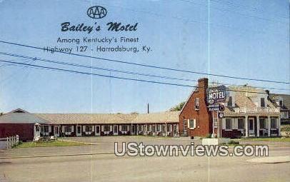 Baileys Motel - Harrodsburg, Kentucky KY Postcard