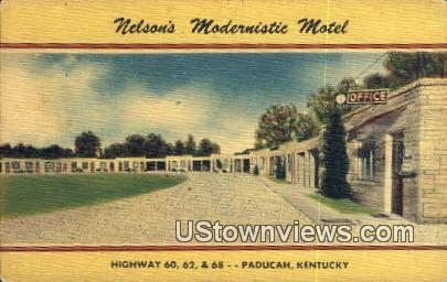 Nelsons Modernistic Motel - Paducah, Kentucky KY Postcard