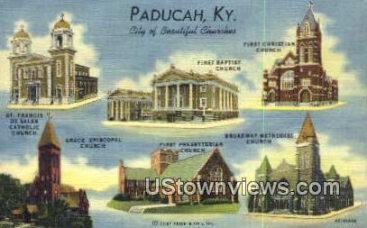 City Of Churches - Paducah, Kentucky KY Postcard