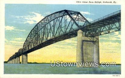 Ohio River Auto Bridge - Paducah, Kentucky KY Postcard