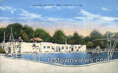Municipal Swimming Pool - Paducah, Kentucky KY Postcard