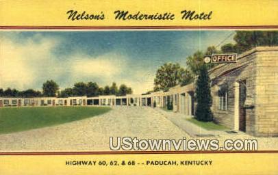 Nelsons Modernistic Motel, Linen - Paducah, Kentucky KY Postcard