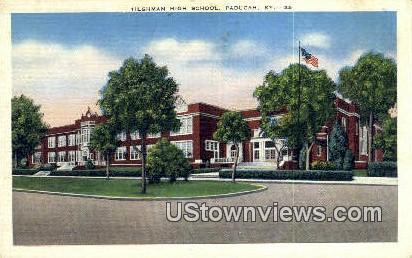 Tilghman High School - Paducah, Kentucky KY Postcard