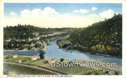 Junction Of Dick And Kentucky - High Bridge Postcard
