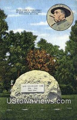 Irvin Cobbs Monument - Paducah, Kentucky KY Postcard