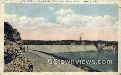 Dix River Hydro Electric Dam - High Bridge, Kentucky KY Postcard
