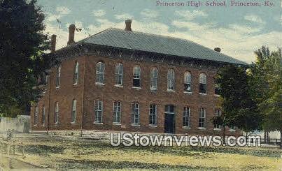 High School - Princeton, Kentucky KY Postcard