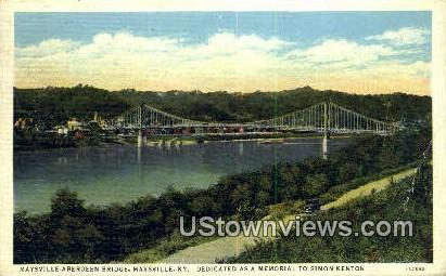 A Bardeen Bridge - Maysville, Kentucky KY Postcard