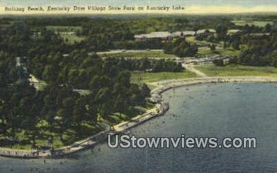 Bathing Beach  - Kentucky Lake Postcards, Kentucky KY Postcard