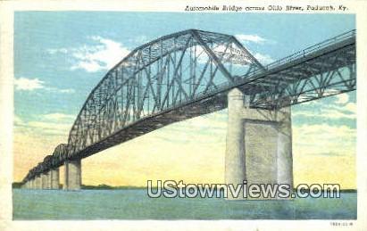 Automobile Bridge - Paducah, Kentucky KY Postcard