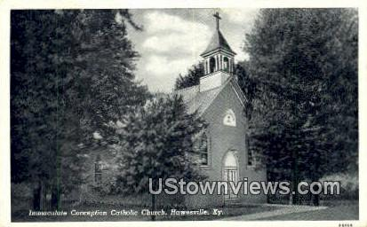 Immaculate Conception Catholic Church - Hawesville, Kentucky KY Postcard