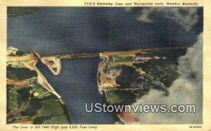 TVA's Dam Navigation Lock - Western Kentucky Postcards, Kentucky KY Postcard