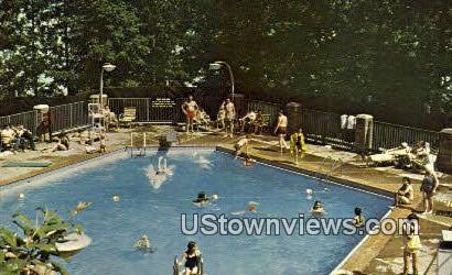 Pool At Village Inn - Gilbertsville, Kentucky KY Postcard