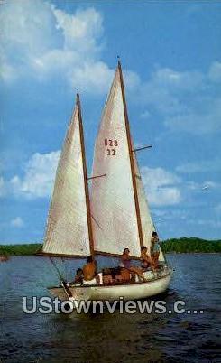 Sailing On The Lake - Kentucky Lake Postcards, Kentucky KY Postcard