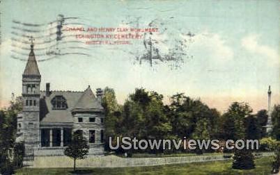 Chapel & Henry Clay Monument - Lexington, Kentucky KY Postcard