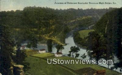 Junction of Dicks & Kentucky Rivers - High Bridge Postcard