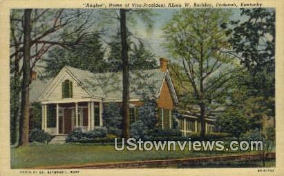 Home of Vice-Pres Alben W. Barkley - Paducah, Kentucky KY Postcard