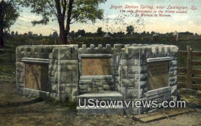Bryan Station Spring - Lexington, Kentucky KY Postcard