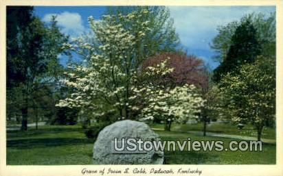 Grave of Irwin S. Cobb - Paducah, Kentucky KY Postcard