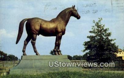 Man-O-War, Wonder Horse - Lexington, Kentucky KY Postcard