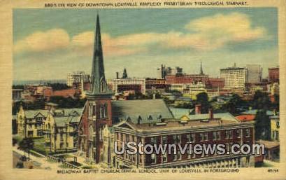 Broadway Baptist Church - Louisville, Kentucky KY Postcard