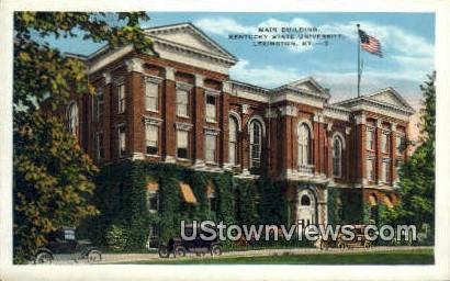 Main Bldg, Kentucky State University - Lexington Postcard