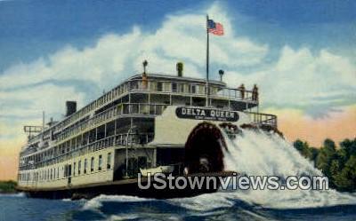 Delta Queen, Tennessee River - Western Kentucky Postcards, Kentucky KY Postcard