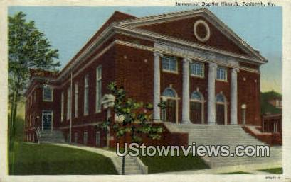 Immanuel Baptist Church - Paducah, Kentucky KY Postcard