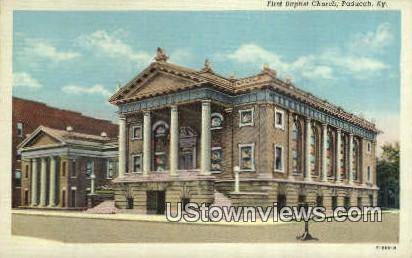 First Baptist Church - Paducah, Kentucky KY Postcard