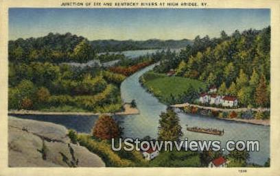 Junction of Dix - High Bridge, Kentucky KY Postcard