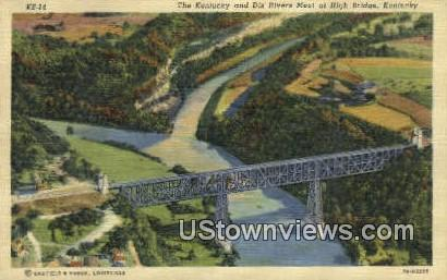 Dix Rivers - High Bridge, Kentucky KY Postcard
