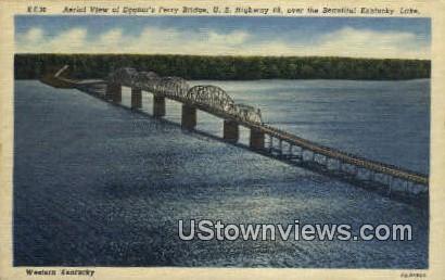 Eggner's Ferry Bridge - Western Kentucky Postcards, Kentucky KY Postcard