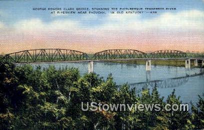 George Rogers Clark Bridge - Paducah, Kentucky KY Postcard