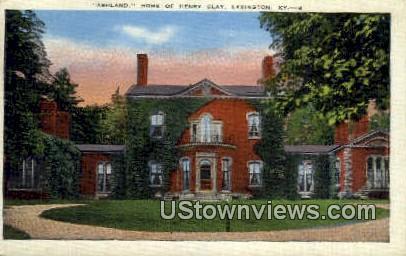 Ashland, Henry Clay - Lexington, Kentucky KY Postcard