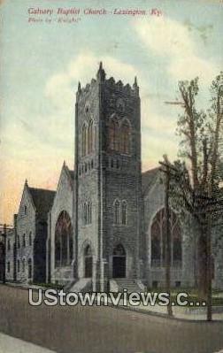 Calvary Baptist Church - Lexington, Kentucky KY Postcard