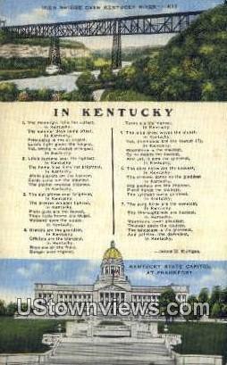 High Bridge - Kentucky KY Postcard