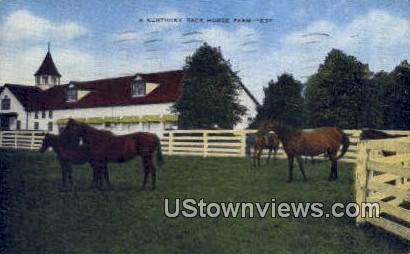 Kentucky Race Horse Farm - Misc Postcard