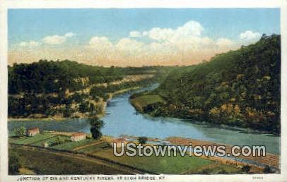 Junction of Dix & Kentucky Rivers - High Bridge Postcard