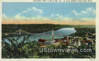 Bridge, Ohio River - Maysville, Kentucky KY Postcard
