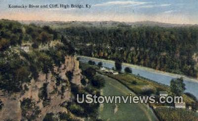 Kentucky River & Cliff - High Bridge Postcard