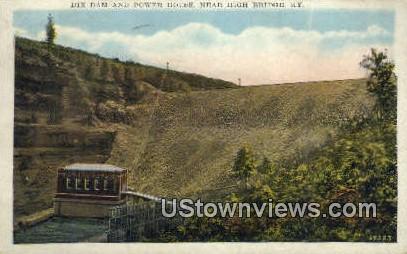 Dix Dam & Power House - High Bridge, Kentucky KY Postcard