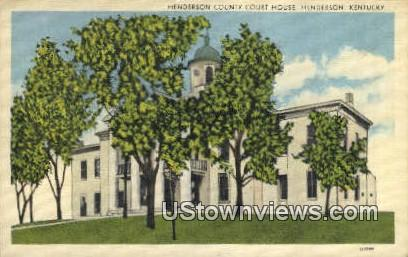 Henderson County Court House - Kentucky KY Postcard