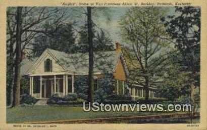 Home of Vice Pres. Alben W. Barkley - Paducah, Kentucky KY Postcard